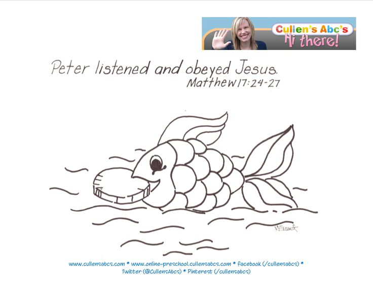 coin in fish mouth coloring page - 17 best images about coin in fish 39 s mouth on pinterest