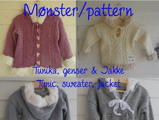 Pattern  tunic sweater jacket with fur by SiSiVeDesign on Etsy