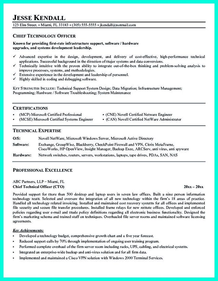 CTO resume or Chief Technical Officer Resume can be considered as resume for senior level technology. So, it must include the technology expertise. IT... cfo resume templates Check more at http://www.resume88.com/outstanding-cto-resume-professionals/
