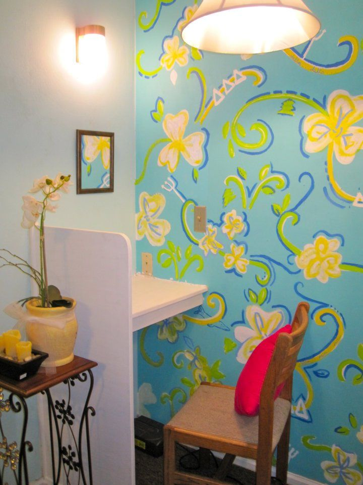 Our Lilly inspired primping nook at our house <3