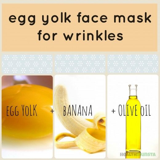 Egg yolk face mask for wrinkles and line. To hydrate, moisturize and plump up aging skin.