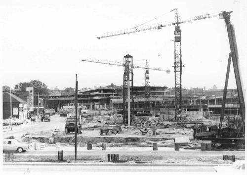 Construction work on Basingstoke Town Centre