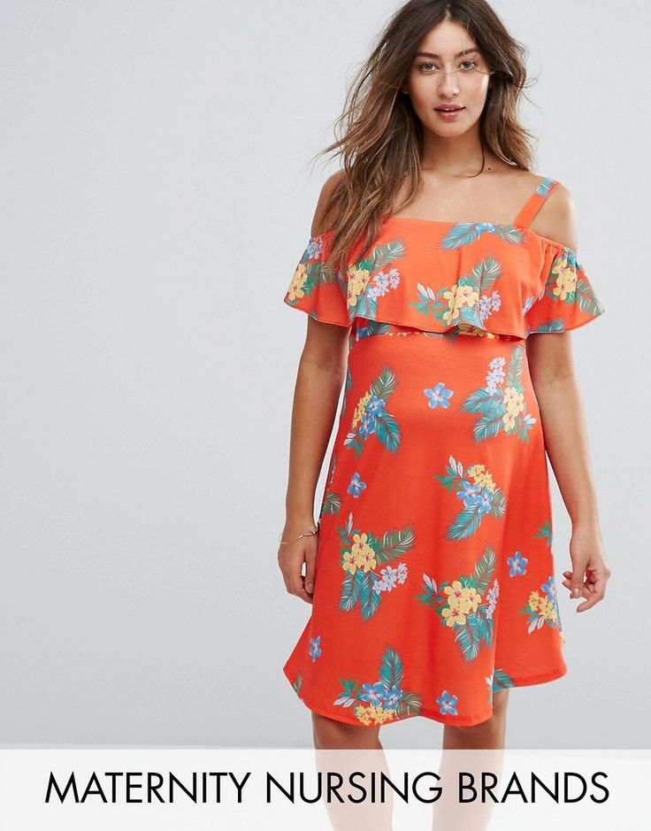 Buy it now. & You Nursing Floral Print Cold Shoulder Tea Dress - Red. Maternity dress by you, Stretch jersey, All-over floral print, Square neck, Cold-shoulder style, Double-layer design ideal for nursing, Regular fit - true to size, Designed to fit during and post pregnancy, Machine wash, 95% Polyester, 5% Elastane, Our model wears a UK 8/EU 36/US 4 and is 169cm/5'6.5 tall. Whether you�re pounding the pavements with the pushchair or hitting the gym, you�s range of activewear is made with...