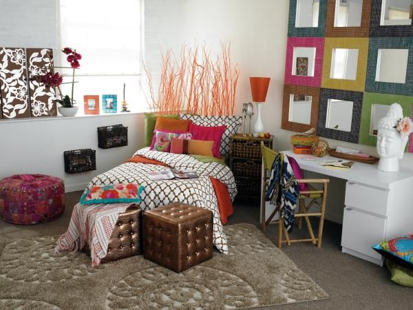 Decoration: Best Decorated Dorm Rooms With Bamboo Chair, College Dorm  Shopping, Cool Dorm Ideas