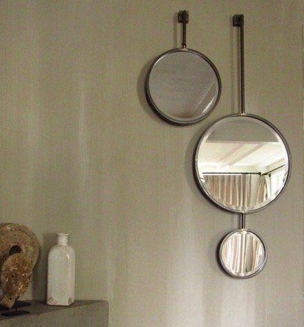 BE PURE RONDE SPIEGEL CHAIN DUBBEL  Leuk eigentijds en zeer decoratieve dubbele spiegelvan Be Pure voor aan de wand