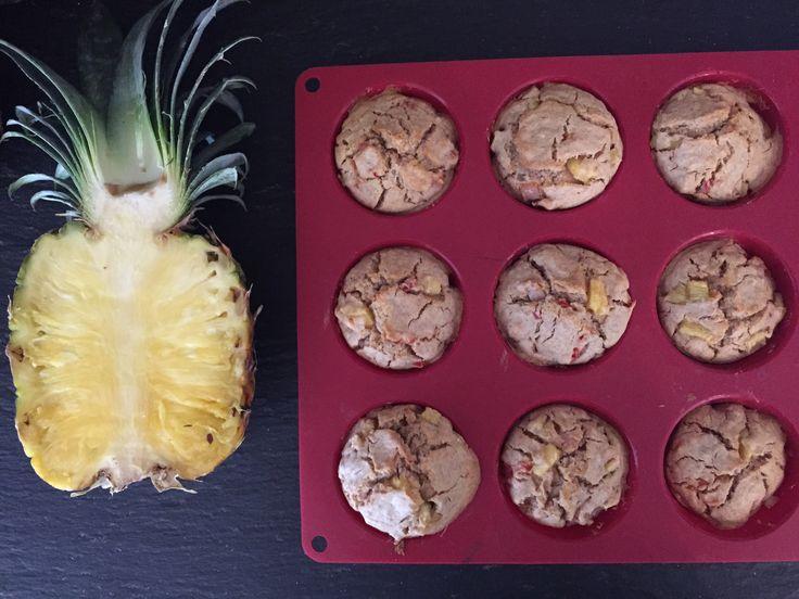 Matmuffins med skinke og ananas - SunnStart