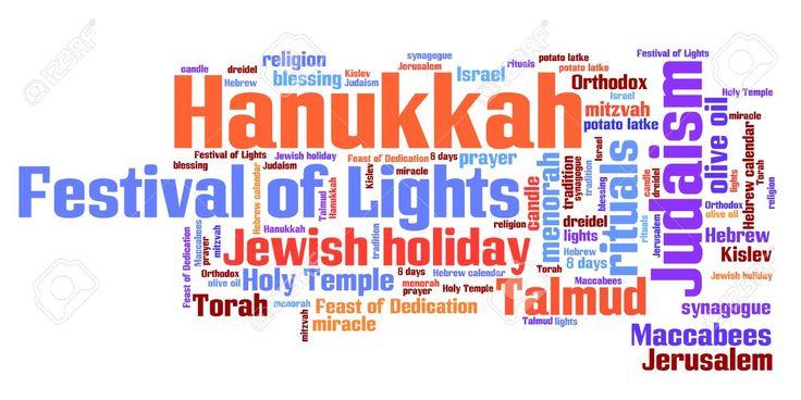 Celebración De Hanukkah Conceptos Ilustración De La Palabra Nube. Concepto Collage De Palabra. Fotos, Retratos, Imágenes Y Fotografía De Archivo Libres De Derecho. Image 26899168.