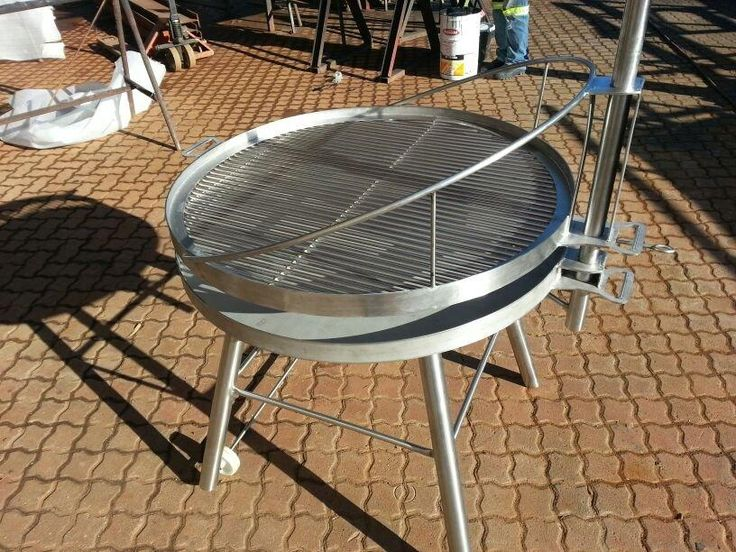 Doing #braaiday in style with this stainless steel braai - by Steel Image