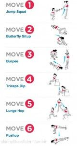 HIIT (High-Intensity Interval Training). Complete each exercise for as many reps as