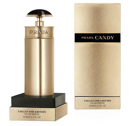 Idée cadeaux de Noël : Eau de Parfum Candy édition noël 2015 Gold, 80ml, Prada, 80£.