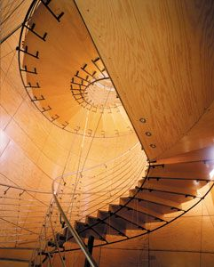 Been having a thing for spiral staircases lately, especially that are highlight wood.,,,,even better if they look like they use or could use our #PureBond #formaldehyde free hardwood, plywood products like these stairs!