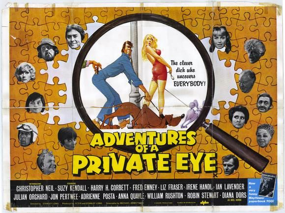 Adventures of a Private Eye (1977) Stars: Christopher Neil, Suzy Kendall, Harry H. Corbett, Diana Dors ~ Director: Stanley A. Long