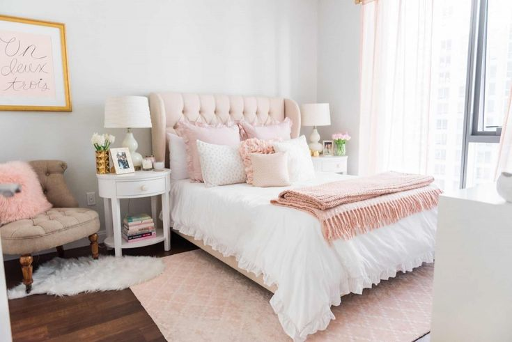 A Soft, Sweet & Blush-Worthy Bedroom Design by Havenly