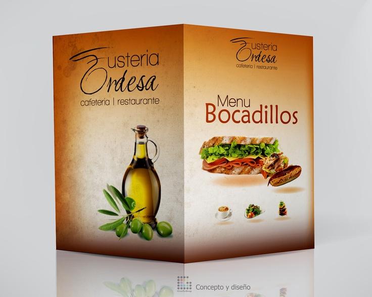 Menu Bocadillo, Menu Design for Restaurante Fusteria Ordesa made by Grafic Grup
