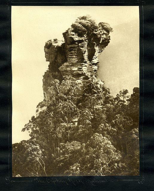 The Orphan Rock, Katoomba    From an album of Harry Phillips photos                                               From an album of Harry Phillips photos