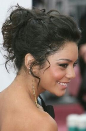 Easy curly hair updos