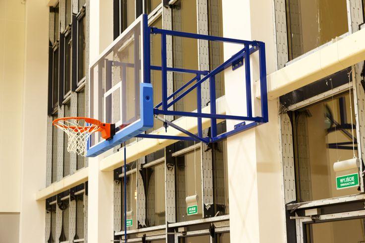 Konstrukcje ścienne do koszykówki, Basketball wall-mounted construction - Foldable.