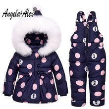Angela&Alex Winter Baby Girls Clothing Sets Children Down Jackets Kids Snowsuit Warm Baby Ski Suit Down Outerwear Coat+Pants //Price: $US $34.43 & FREE Shipping // #gloves #decor #dresses #skirts #pants #tshirts #Childrensnowsuit #babygirlpants #babygirlsnowsuit