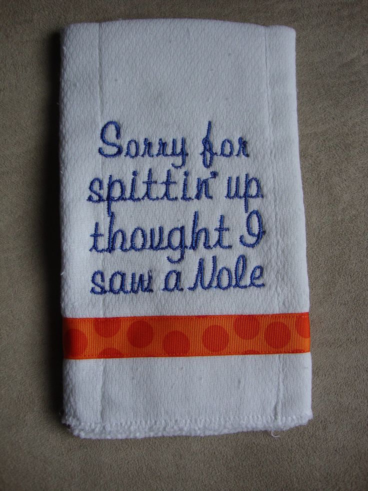 UF- Florida Gator Burp Cloth = AWESOME!!