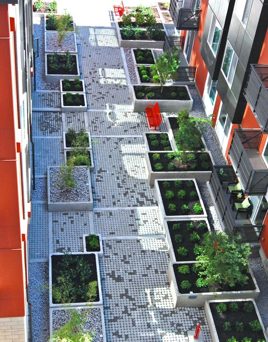 Landscape architect courtyard google search public for Courtyard landscaping brisbane