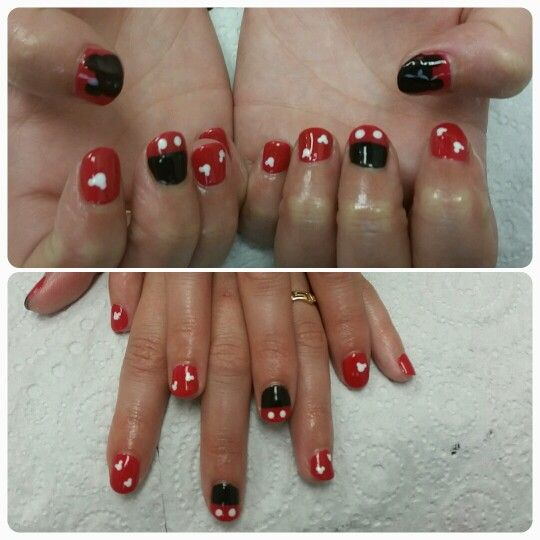 Mickey mouse nails for Amy!