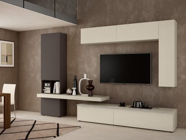 17 Excellent ideas for TV shelves for designing attractive living rooms