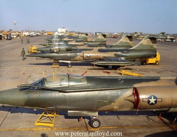 F-104C Starfighters at Udorn Rtab Thai land during the ...