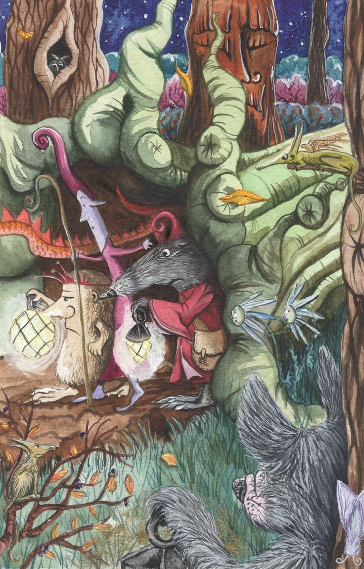 Illustration for THE PUZZLE OF THE TILLIAN WAND www.matlockthehare.com also kickstarter reward.