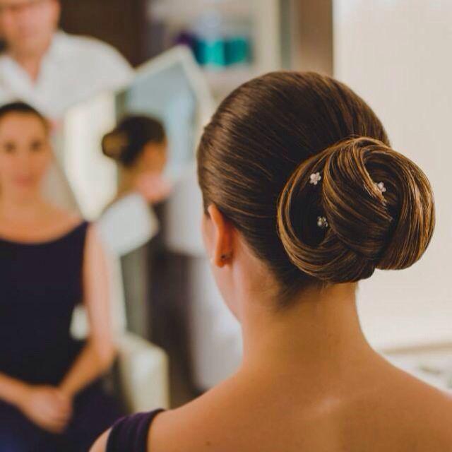 Peinado, recogido de novia.