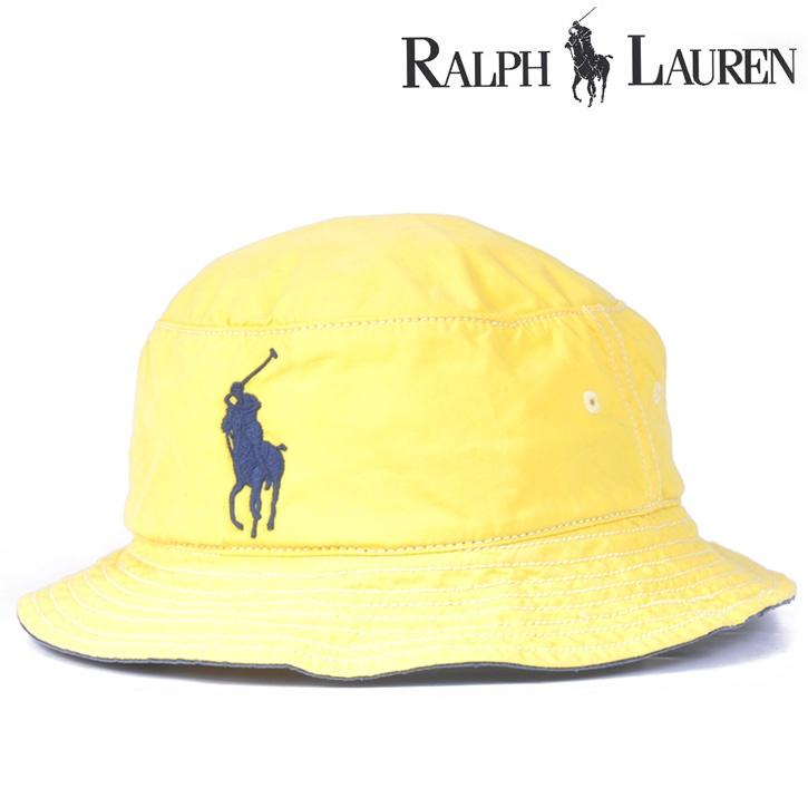 Polo Ralph Lauren(ポロラルフローレン) サファリハット イエロー×ネイビー hat-rl-002