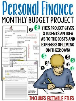 RECENTLY UPDATED!! This is a useful project for students in a business class, or any other subject area where simple math skills, or real-life examples are needed. This project gives students some insight into what it's like to live on their own, and how much it costs to live!