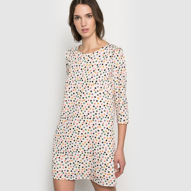Printed Dress with 3/4 Sleeves COMPANIA FANTASTICA