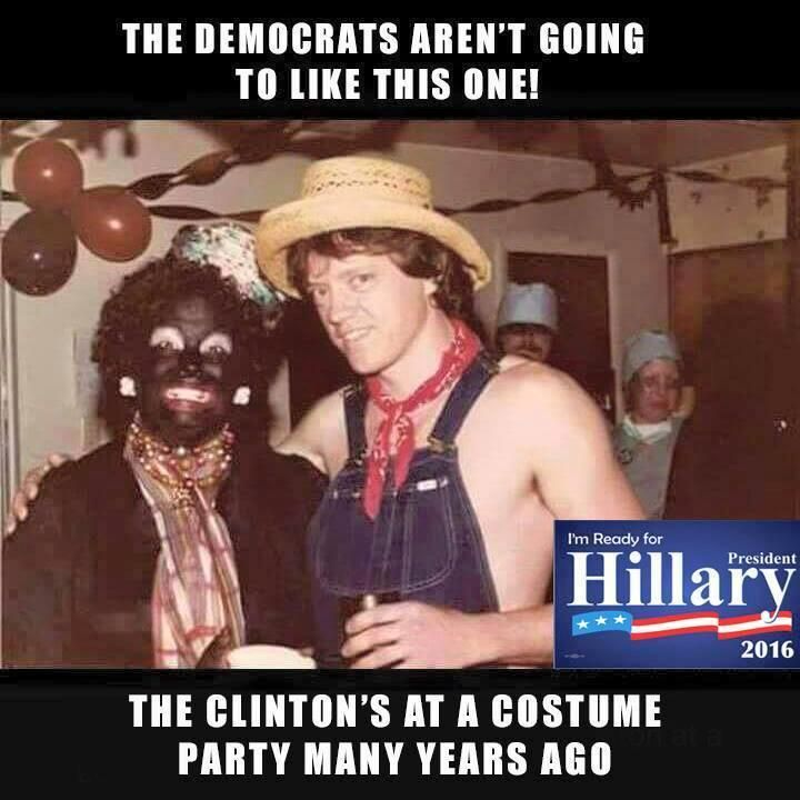 Hillary and Bill Clinton years ago Halloween costumes. Has everyone seen this??