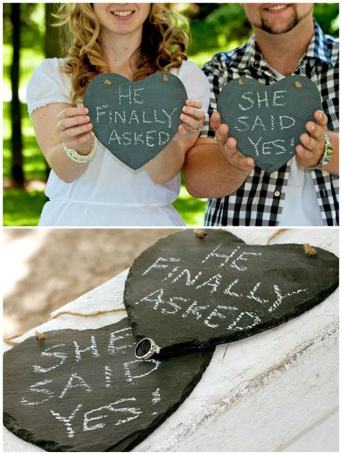 "Lol... funny ""She said yes!"" photo props"