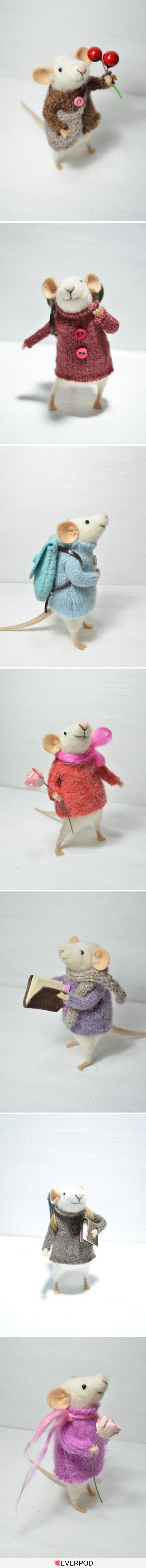 cutest Mouse ever! needle felted