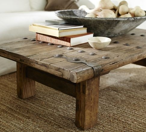 Reclaimed Wood Coffee Table With Some Hardware On It Old Barn Wood Furniture There 39 S No Place