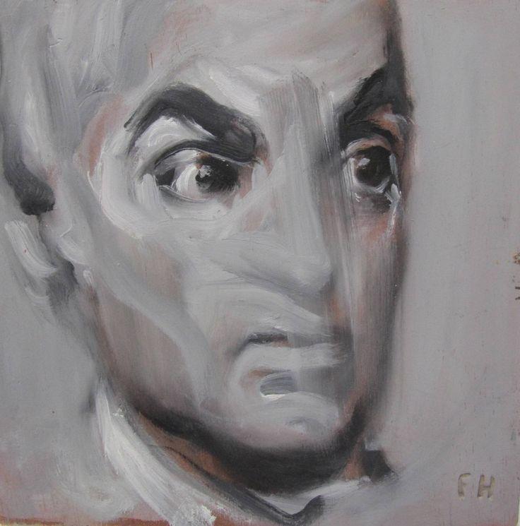 """Diario vivir. Retrato masculino"" Óleo sobre tabla 20x20cm"