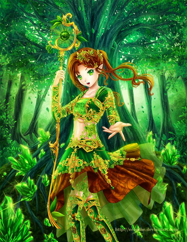 Anime Nature Dresses