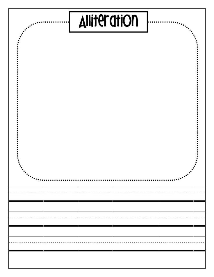 alliteration poem template - 43 best blank templates images on pinterest teaching