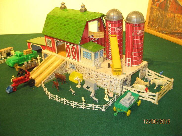Marx Sears Happi Time Platform Barn Farm Set With