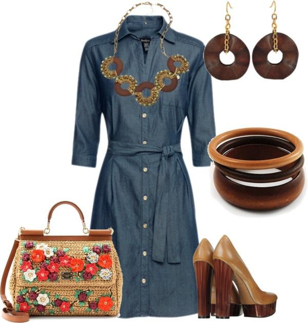 """Vestidos Camiseros"" by outfits-de-moda2 on Polyvore"