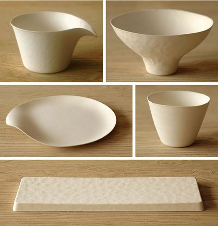 Wasara paper tableware. eco-friendly and disposable
