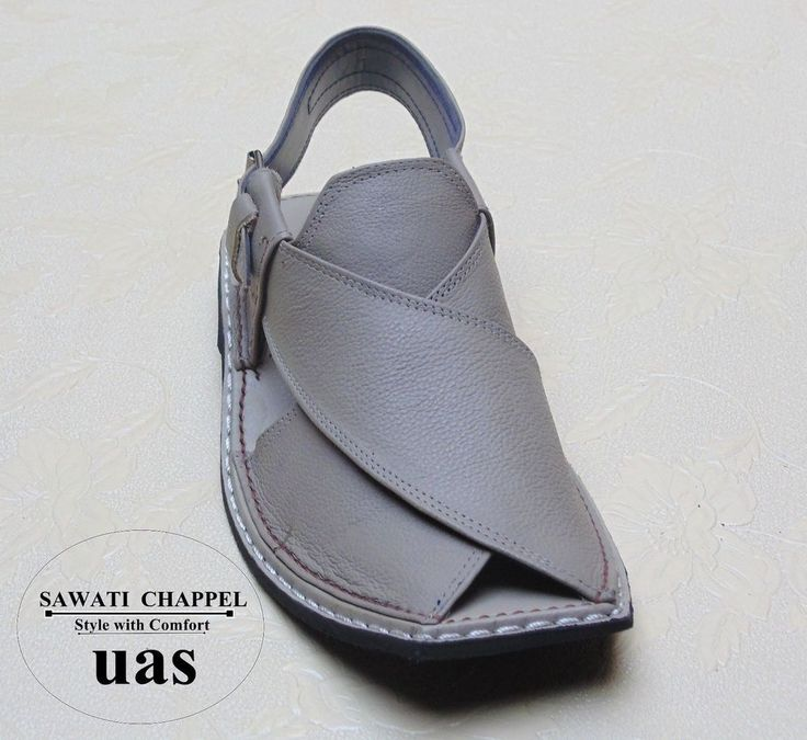 Sawati leather us 7, 8,9,10 men's handmade gray peshawari chappel