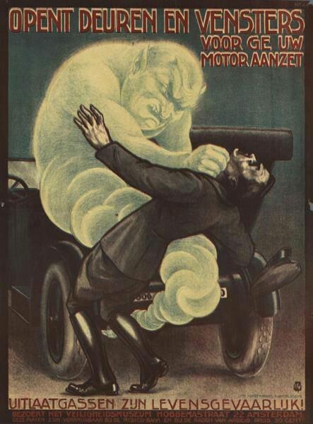 Vintage safety poster.