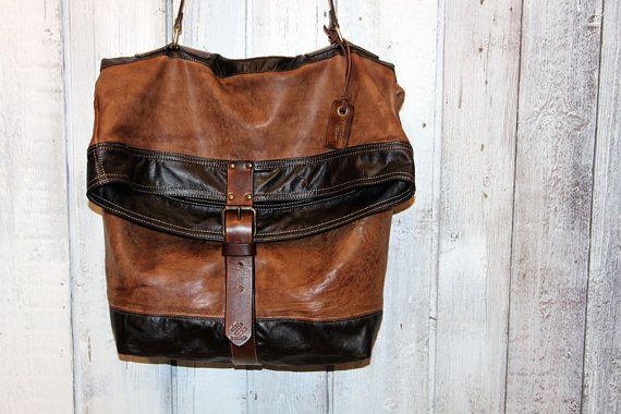 Handmade Italian Vintage Leather por LaSellerieLimited en Etsy