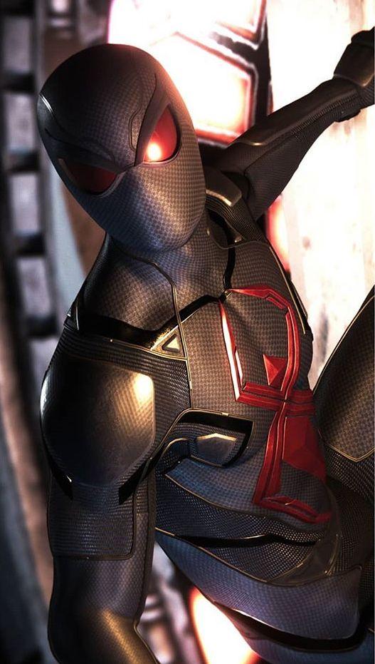 Spiderman Ps4 Black Cat Suit Spider Verse Pinterest Marvel