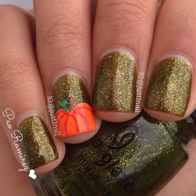 Pumpkin nails  with @chinaglazeofficial zombie zest the rest are acrylic paints : inspired by my bestie @lifeisbetterpolished and of course my lovely followers! Thank you all for your ideas and suggestions Please keep them coming. I read them all!