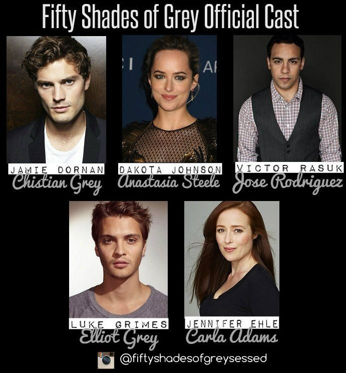 official cast of fifty shades of grey fifty shades. Black Bedroom Furniture Sets. Home Design Ideas
