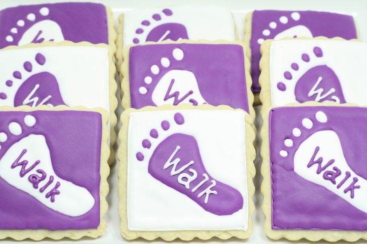 Footprint Cookies - Alzheimer's Association Fundraiser