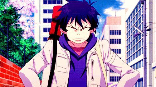 Rin Okumura. Blue Exorcist. Ao no Exorcist #gif